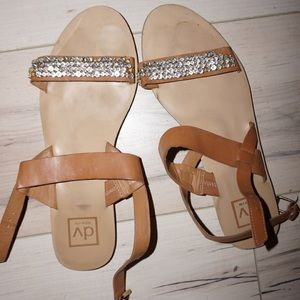 Dolce Vita Flat Sandals with Gems